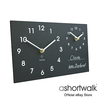 ashortwalk Eco Time zone clock made from recycled paper packaging