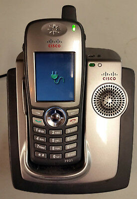 Cisco CP-DSKCH-7921G 7921 WiFi VOIP Wireless Cordless Color IP Phone w/ Charger