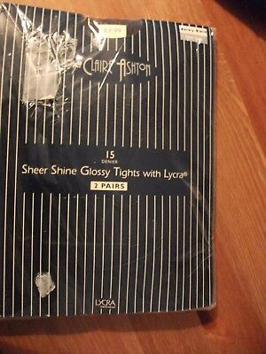 vintage glossy tights by claire ashton x 2