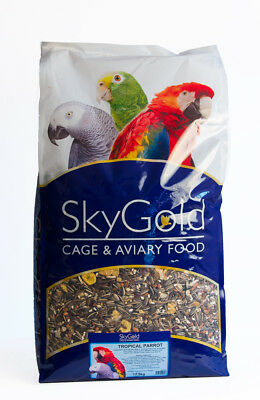 SkyGold Tropical Parrot Bird Food Seed Feed Mix 12.5Kg