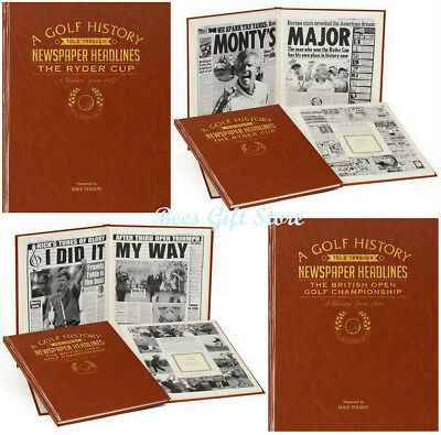 PERSONALISED History of GOLF NEWSPAPER Headline BOOK Gift Ideas for Him Her