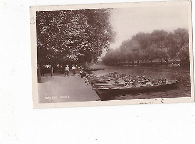 RP River Ouse, Bedford. Boats/Lady with pram. Boots RP.1903.