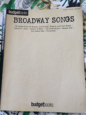 Broadway Songs - Music Book For Piano / Voice / Guitar