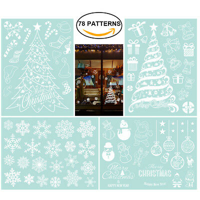 4 Sheets Christmas Wall Sticker Christmas Decorations For Home Window Sticker