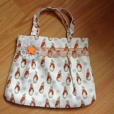 Handmade girls handbag Peter rabbit fabric