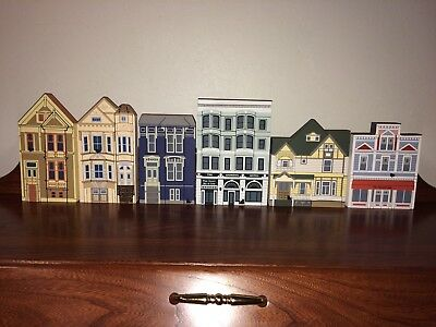 Cat's Meow Village Set Of 4 Painted Ladies + 2 More Shelf Sitters