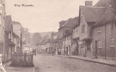 West Wycombe-Showing the Plough Inn-Two men with bicycle.by A.E.H.London.1920.
