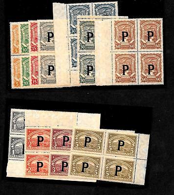 SCADTA - Panama - Colombia - Set of blocks to 5 Peso ------code964