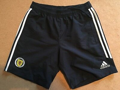 """Official Adidas Scotland Football Shorts, Size Adult Small 32"""""""