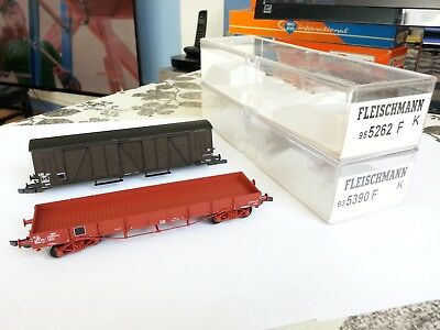 2 wagons incomplets  fleischmann sncf train HO