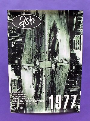 Ash 1977 ORIGINAL 1996 UK PROMO POSTER indie girl from mars goldfinger oh yeah