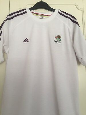 Adidas White Euro 2012 Shirt Size Small Used Excellent Condition