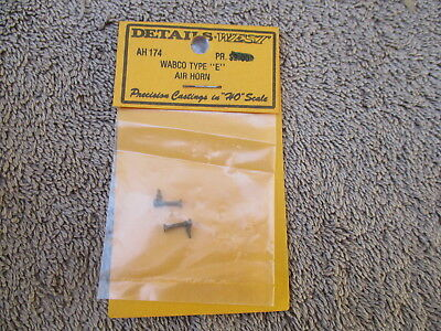Detail West #AH-174 HO Scaled Brass Wabco Type E Air Horn Detail Parts Trains RR