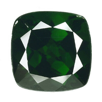 3.430 Cts Attractive Luster Chrom Green Natural Diopside Cushion Loose Gemstones
