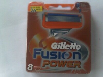 "Gillette ""fusion Power"" Replacement Cartridges. Pack Of 8."