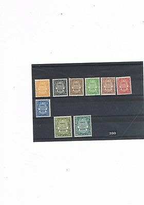 Egypt Stamps #280 King Fuad Officials Part Set 1926-35 M.mint