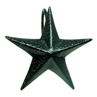 The Country House Collection Black Barn Star Metal Shower Hooks