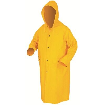 River City 49 Inch Hooded Raincoat with Detachable Hood, Yellow
