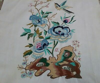 Hand embroided vintage picture