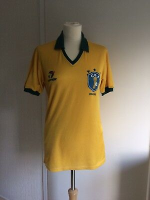 Rare vintage retro Brazil 1986 FIFA World Cup Football Jersey shirt