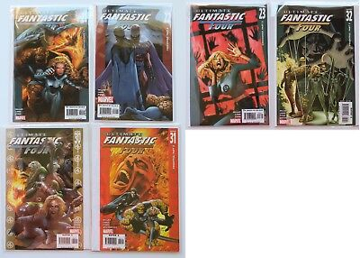 Ultimate Fantastic Four No. 21 22 23 30 31 & 32 Zombies Comic Book Lot of 6 2005