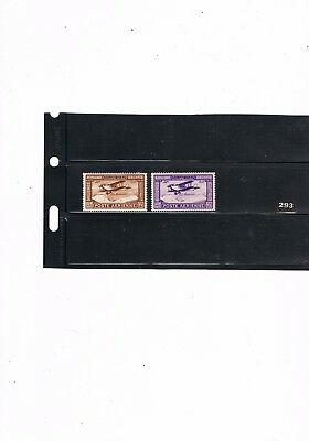 Egypt Stamps #293 Pair Of Airmail Stamps 1926 Mounted Mint