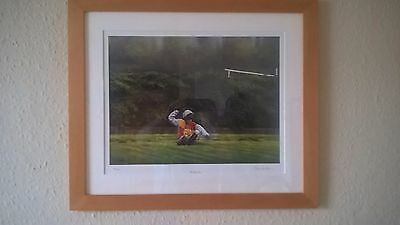 Bollocks! Limited Edition Horse Racing Framed Print Signed By Chris Howells