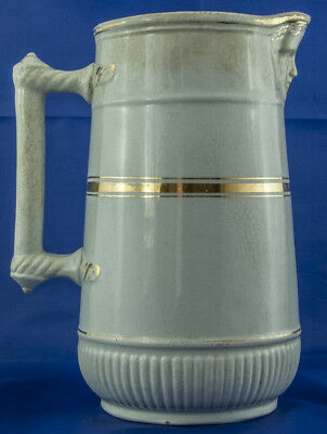 Fife Pottery White & Gold Face mask Jug c 1880 8.25 Inches tall