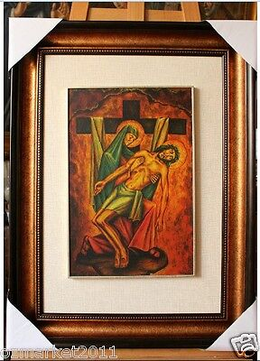 Catholic Church Portrait Jesus Cross Christian Blessed Cloth Frame Pretty Gift T