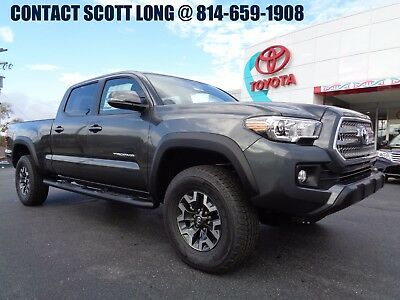 2017 Toyota Tacoma Double Cab 4x4 3.5L Nav Crawl 6FT Bed 4WD Black New 2017 Tacoma Double Cab Long Bed TRD Off Road 4x4 Navigation Rear Diff 4WD