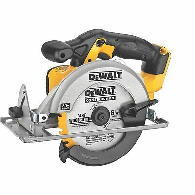 "New Dewalt 20 Volt Max Lithium Ion Cordless 6 1/2"" Circular Saw Model # DCS393"
