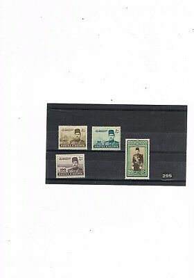 Egypt Stamps #295 King Farouk High Values 1939-45 M.mint