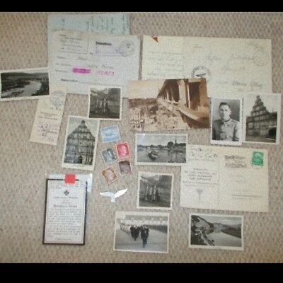 Lots Old German Items Ww2 Original Memorabilia Documents