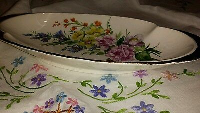 Royal Winton Hand Painted Dish floral pattern