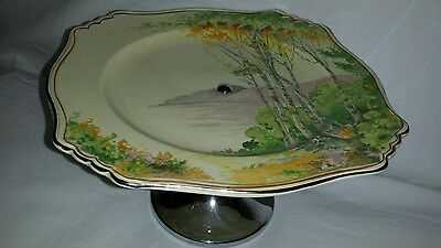 Royal Winton Cake Stand 'Paradise' Hand Painted