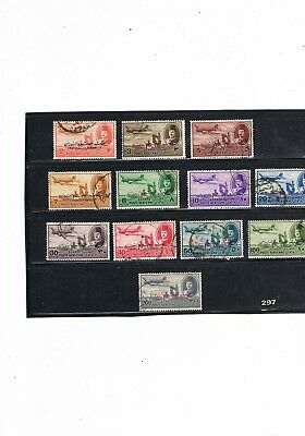 "Egypt Stamps #297 King Farouk Air Mails Overprints ""king Of Sudan"" Used"