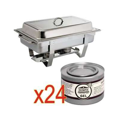 Chafing dish Milan GN 1/1 avec 24 boîtes de gel combustible OLYMPIA