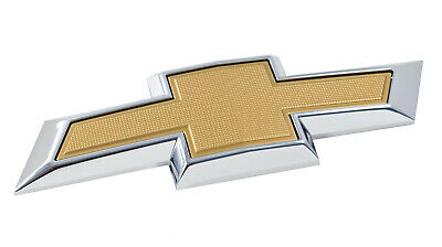 2014-2015 Camaro 2017 Cruze Rear Trunk Chevy Bowtie Emblem Panel in Chrome Gold