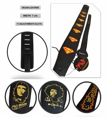 Extra Wide PU Leather Electric Bass Adjustable Shoulder Guitar Strap