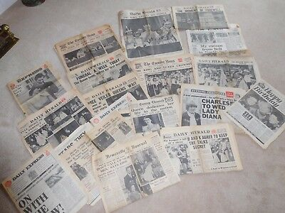 Old Newspapers ~ Kings Speech ~ Royal Family 1934-1980