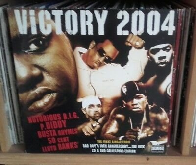 "Victory 2004 HIP HOP 12"" feat Notorious BIG/Busta Rhymes/50 cent"
