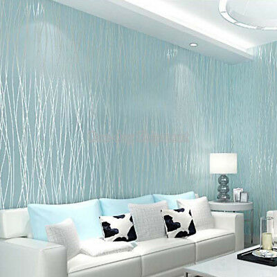 3D Non-Woven Embossed Wallpaper Bedroom Stickers Living Room TV Background Decor