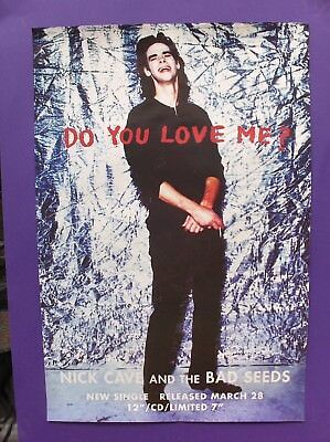 Nick Cave & The Bad Seeds Do You Love Me ORIGINAL 1994 UK PROMO POSTER let love