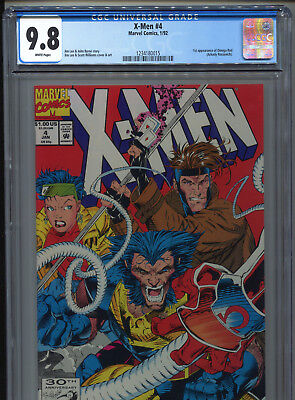 1992 Marvel X-Men #4 1St Appearance Omega Red Cgc 9.8 White Pages