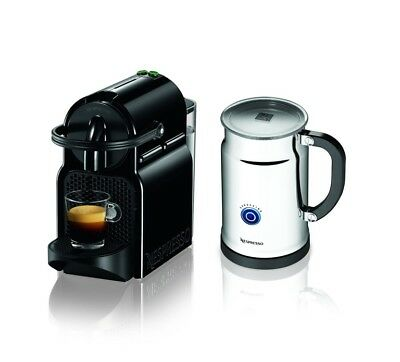Nespresso De'Longhi Inissia Espresso Machine Gray With Aerocino Milk Frother.
