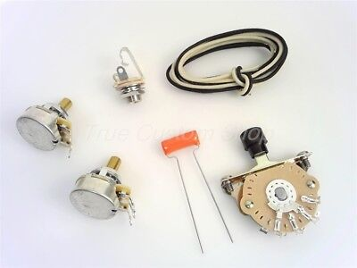 True Custom Shop® Oak 3-Way Wiring Kit for Fender Tele CTS Pots .047 Sprague