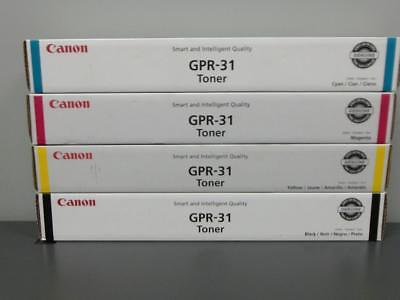 New Genuine CANON GPR-31 Color Toner Set