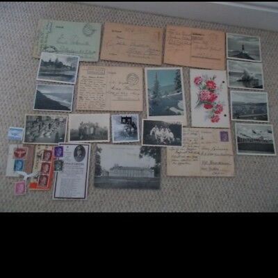 Lots Old German Items Ww2 Original Memorabilia Documents Set 2