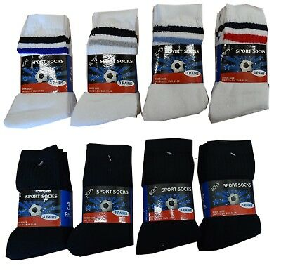 12 Pairs Kids Cotton Rich School Sport Socks Boys Girls Back to School