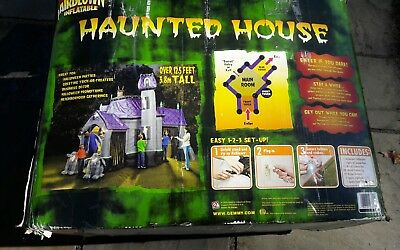 GEMMY AIRBLOWN INFLATABLE HAUNTED HOUSE 12.5 FT  HALLOWEEN needs repair